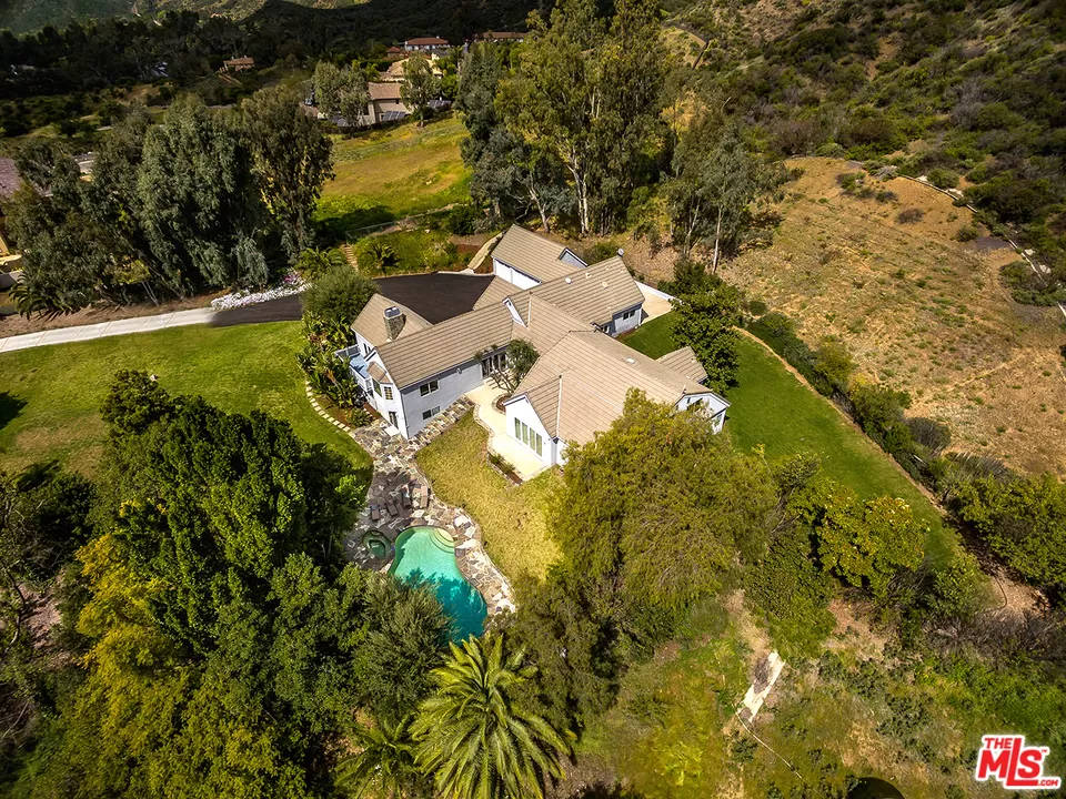 Aerial View 2069 Cold Canyon Rd Calabasas, CA 91302