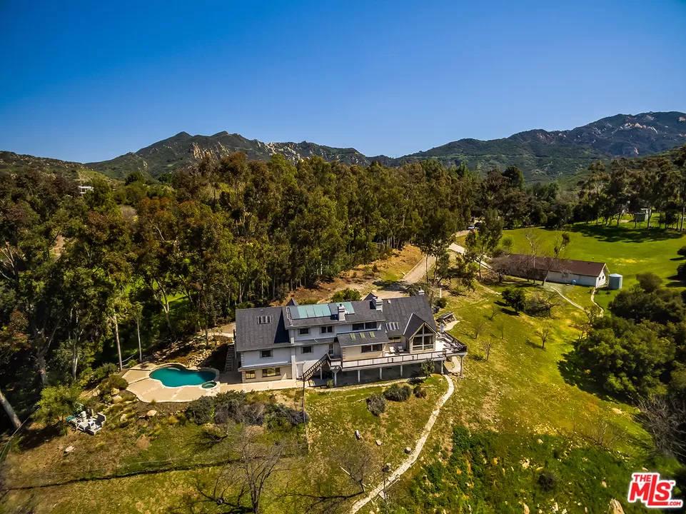 Aerial View 24940 Bob Batchelor Rd Calabasas, CA 91302