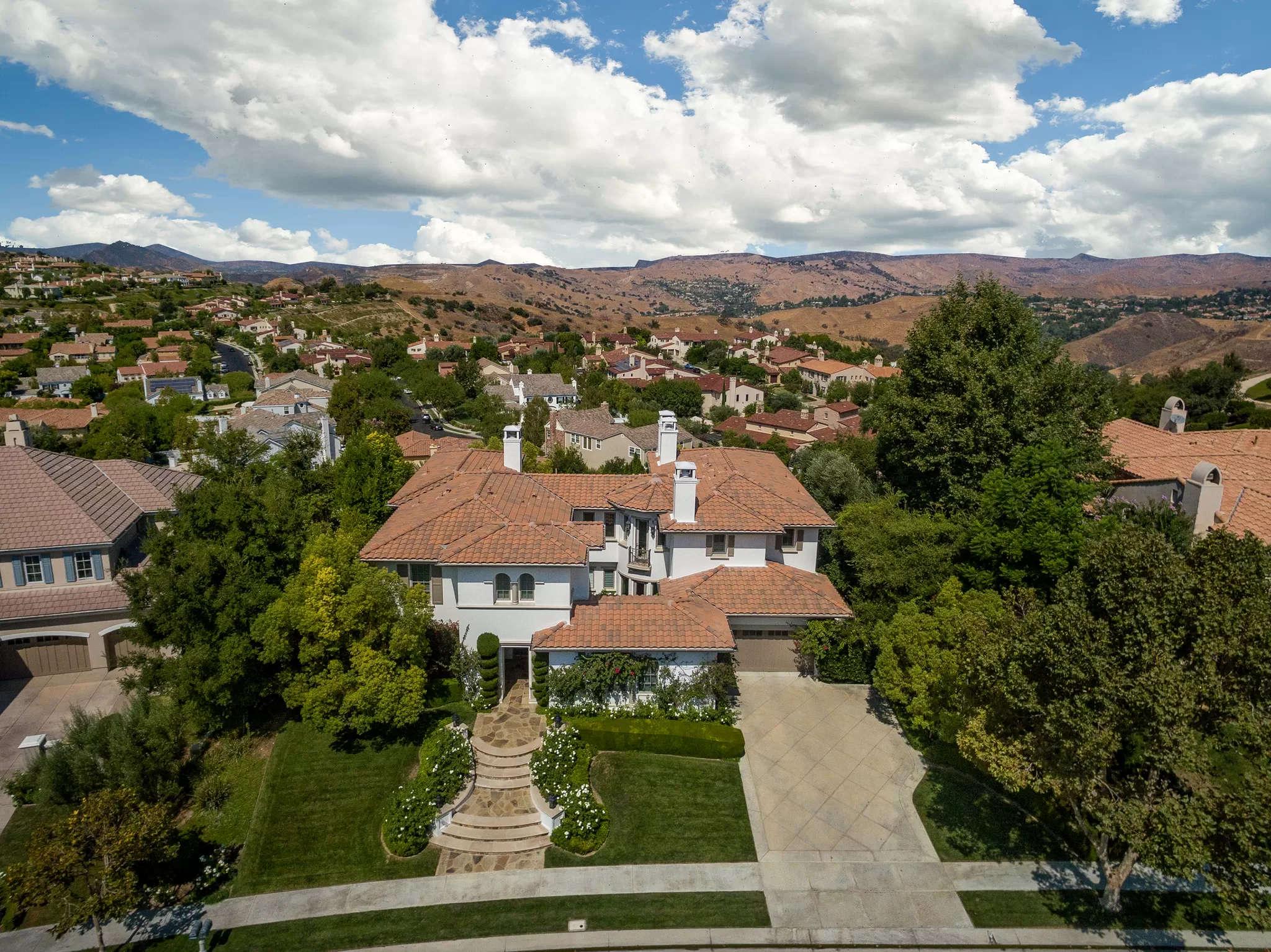 Aerial View 4189 Prado De Los Pajaros Calabasas, CA 91302