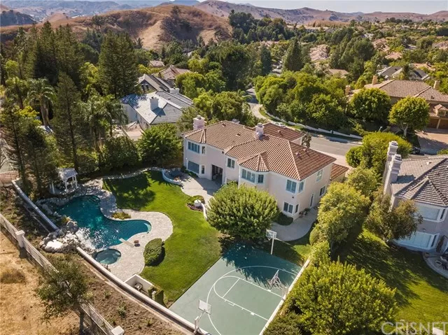 Aerial View Three 5374 Wellesley Dr Calabasas, CA 91302