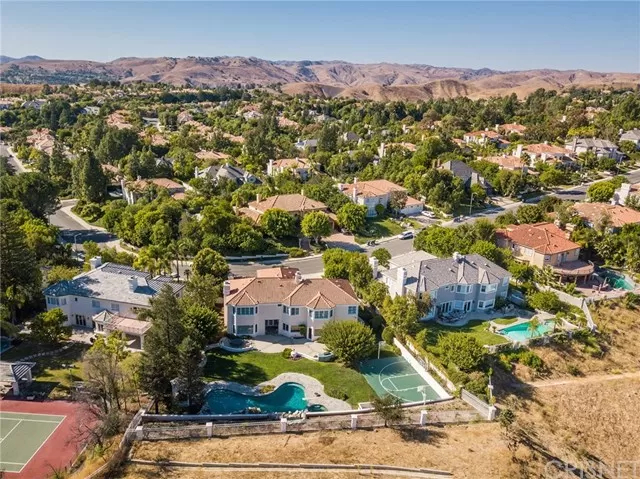 Aerial View Two 5374 Wellesley Dr Calabasas, CA 91302
